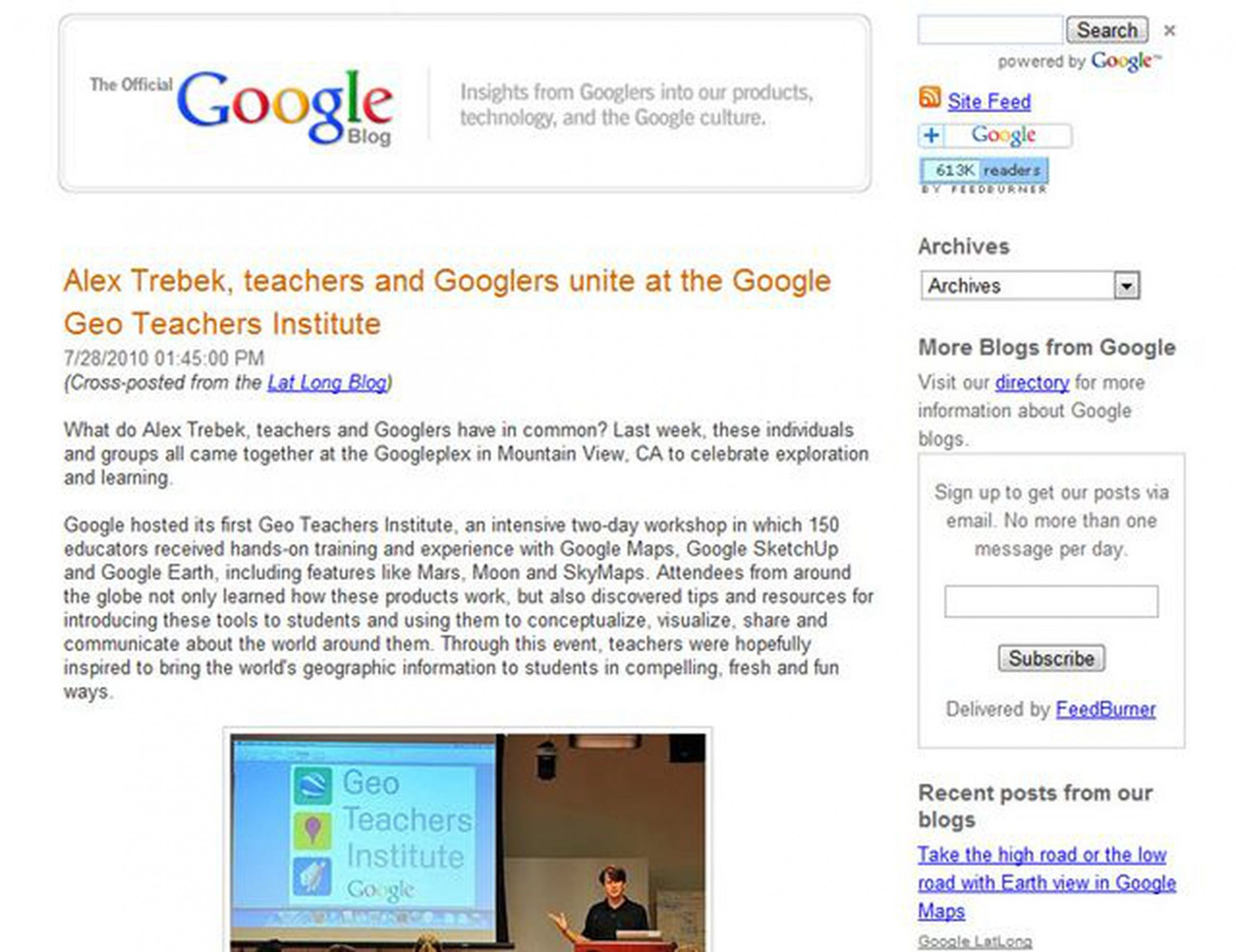 Google Blog: Include Employees from Across the Company