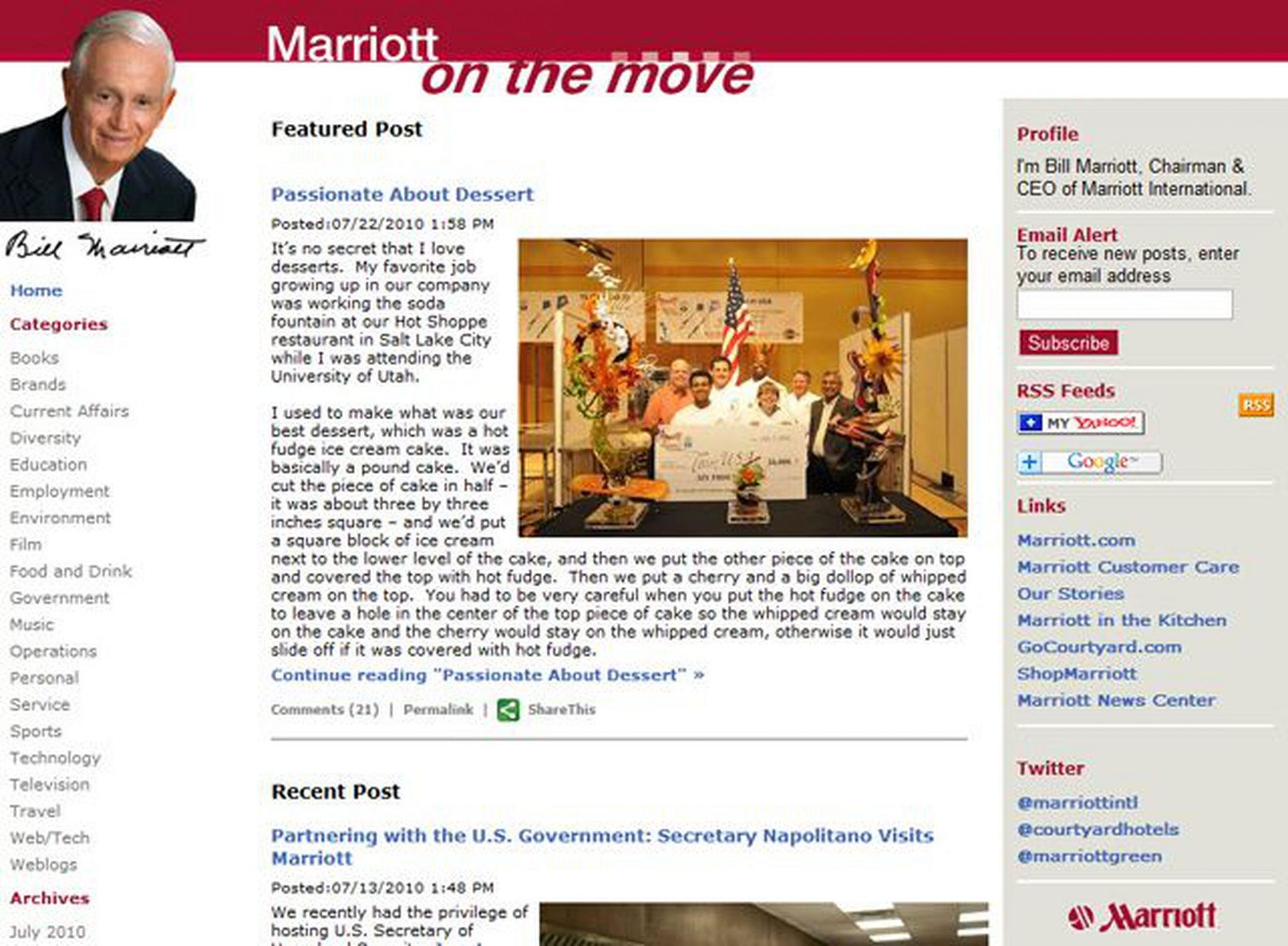 Marriott On the Move: Put Your Leader in Charge