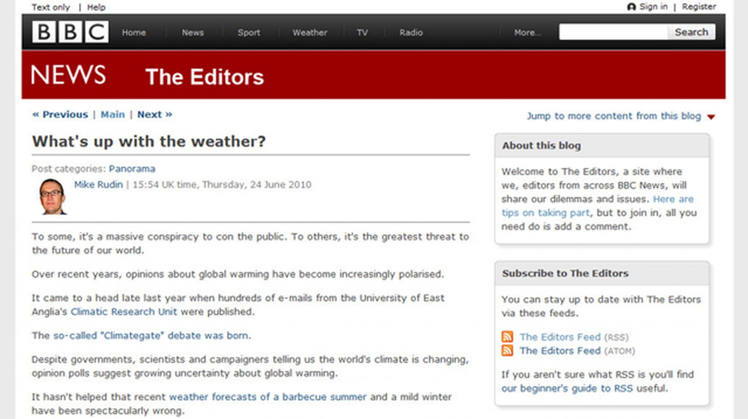 BBC's The Editors Blog: Bring Readers Into the Process